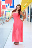 Attractive red hair woman in fashion dress Stock Photography