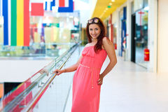 Attractive red hair woman in fashion dress Royalty Free Stock Image