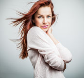 Attractive red hair woman. Royalty Free Stock Photography