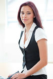 Attractive red-haired businesswoman Stock Photos