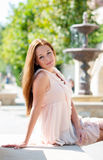 Attractive red-haired girl Stock Photo