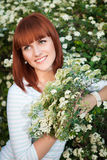 Attractive red-haired woman Royalty Free Stock Photography
