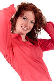 Attractive red-haired young woman Stock Image