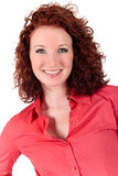 Attractive red-haired young woman Stock Photography