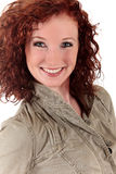 Attractive red-haired young woman Royalty Free Stock Photos