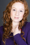 Attractive Red Headed Teenager Royalty Free Stock Photos