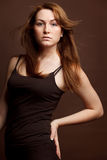 Attractive red woman Royalty Free Stock Images