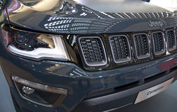 Attractive redesigned SUV Jeep Compass crossover at the Belgrade Motor Show Royalty Free Stock Image