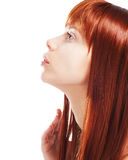 Attractive Redhead Girl With Healthy Clean Skin Stock Image