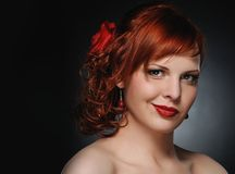 Attractive redhead woman Royalty Free Stock Image