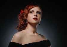 Attractive redhead woman Royalty Free Stock Photos