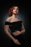 Attractive redhead woman Stock Image