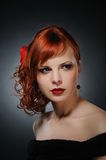 Attractive redhead woman Stock Photos