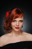 attractive redhead woman Stock Photography