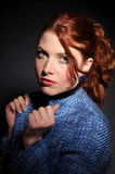The attractive redhead woman Stock Image