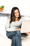 Computer woman Royalty Free Stock Image