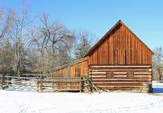 Attractive restored barn stock image