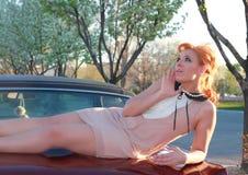 Attractive Retro Sixties Woman Royalty Free Stock Photos