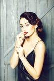 Attractive retro woman stock photo
