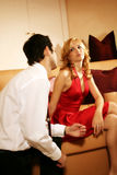 Attractive and rich couple stock images