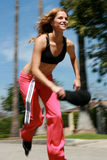 Attractive Roller Blader Royalty Free Stock Image