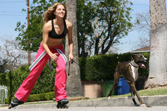 Attractive Roller Blader Stock Photos