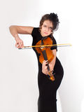 Attractive romantic girl playing violin Stock Photography