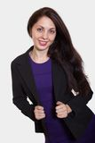 Attractive russian caucasian brunette woman Royalty Free Stock Photos