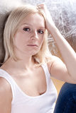 Attractive sad woman Royalty Free Stock Images
