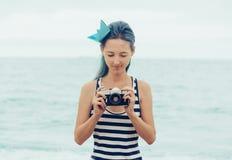 Attractive sailor girl Stock Photo