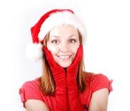 Attractive santa girl Royalty Free Stock Photos