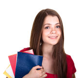 Attractive schoolgirl isolated Royalty Free Stock Photography