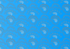 Attractive seamless pattern  background on blue. Stock Image