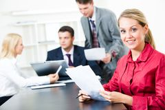 Attractive secretary Royalty Free Stock Photography