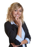 Attractive secretary with blue blazer Stock Photo
