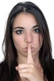 Attractive Secretive or Quiet Brunette (2) Stock Image