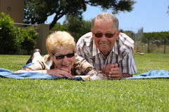 Attractive senior couple Stock Images
