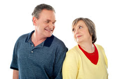 Attractive senior couple being playful Stock Photo