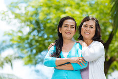 Attractive senior Vietnamese women Stock Photography