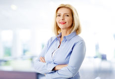 Attractive senior woman Royalty Free Stock Images
