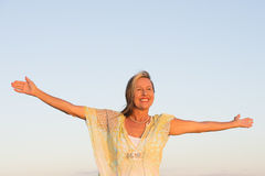 Attractive Senior woman in confident pose Stock Photography