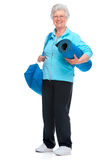 Attractive senior woman at health club, Stock Photography