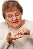 Attractive Senior Woman and Medication Pills Stock Photo
