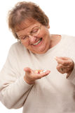 Attractive Senior Woman and Pills Royalty Free Stock Photos