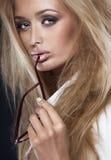 Attractive sensual blonde lady. Stock Photos