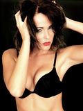 Attractive Sensual Young Woman Wearing Black Bra Royalty Free Stock Photo