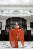Attractive sensuality pretty blonde woman Stock Image