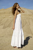 Attractive and sensuality woman in the desert Royalty Free Stock Image