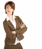 Attractive Serious Businesswoman Royalty Free Stock Photography