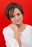 Attractive serious woman Royalty Free Stock Images
